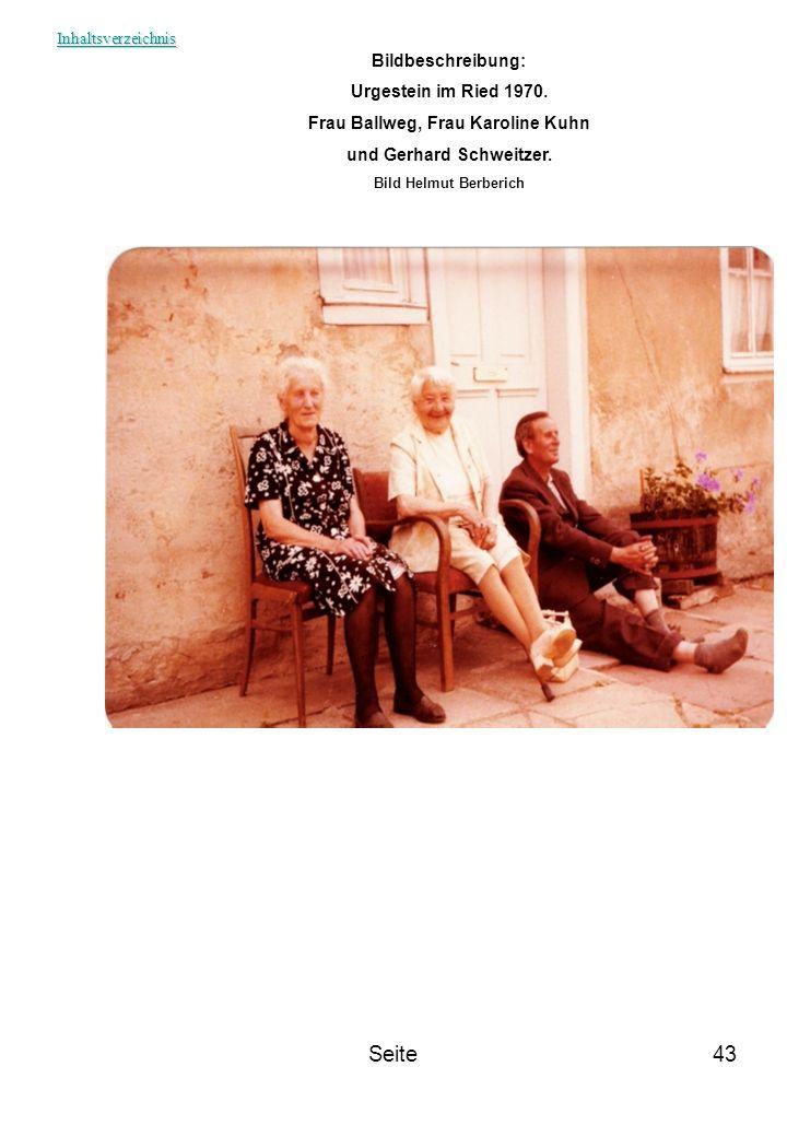 Frau Ballweg, Frau Karoline Kuhn und Gerhard Schweitzer.