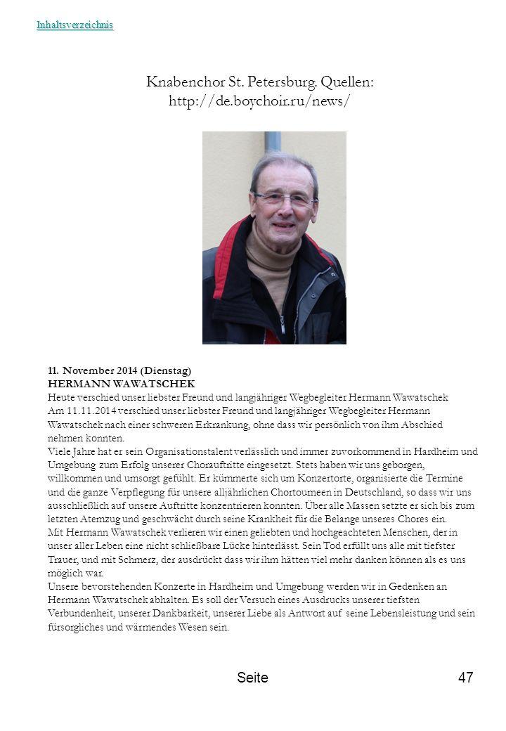 Knabenchor St. Petersburg. Quellen: http://de.boychoir.ru/news/