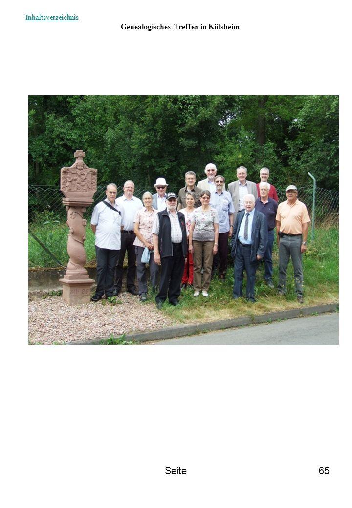 Genealogisches Treffen in Külsheim