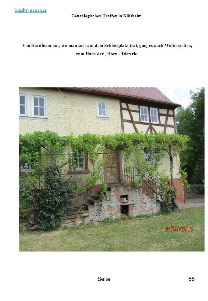 """Genealogisches Treffen in Külsheim zum Haus der """"Horn - Dieterle."""