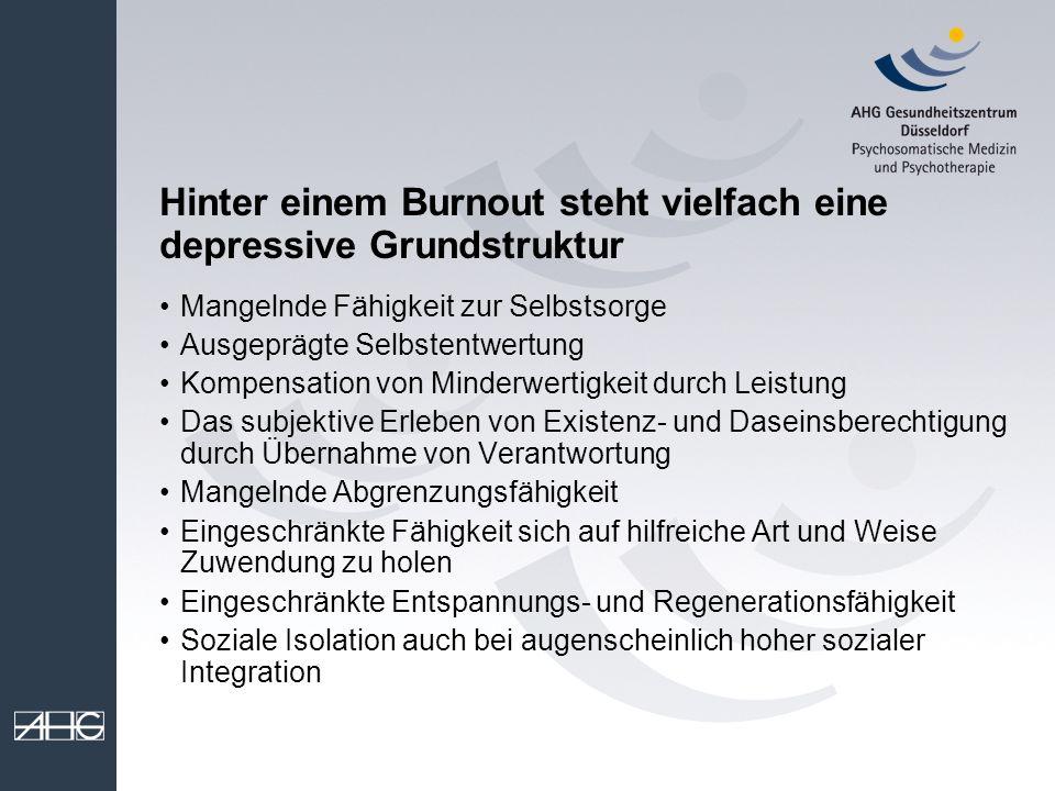 Hinter einem Burnout steht vielfach eine depressive Grundstruktur