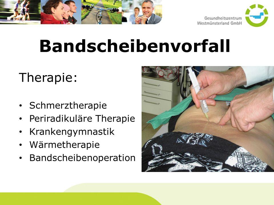 Bandscheibenvorfall Therapie: Schmerztherapie Periradikuläre Therapie