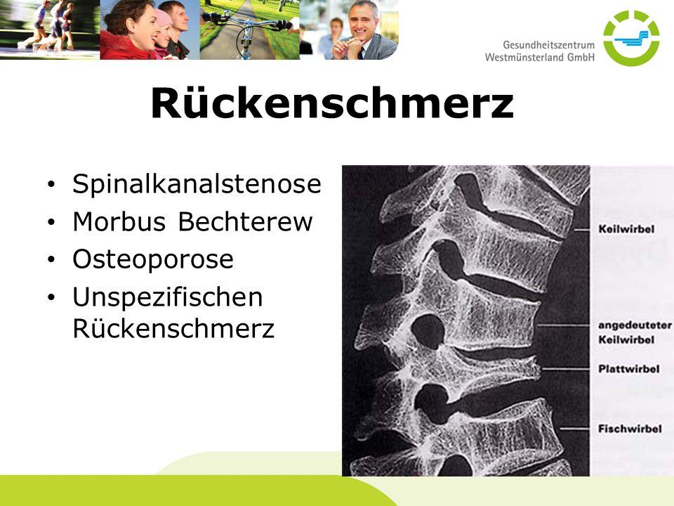 Rückenschmerz Spinalkanalstenose Morbus Bechterew Osteoporose