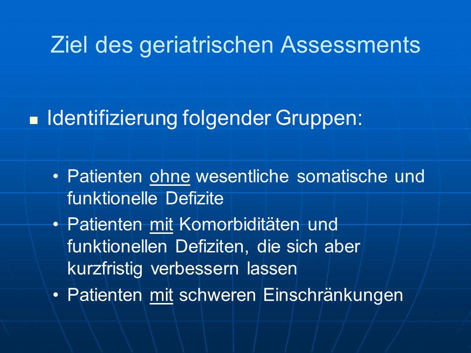 Ziel des geriatrischen Assessments