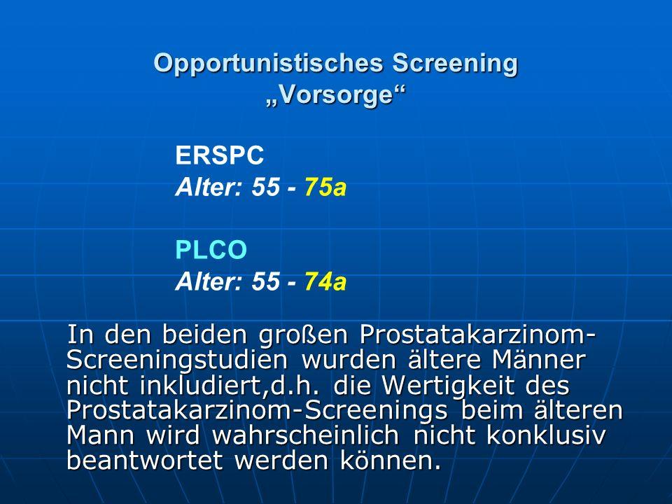 """Opportunistisches Screening """"Vorsorge"""