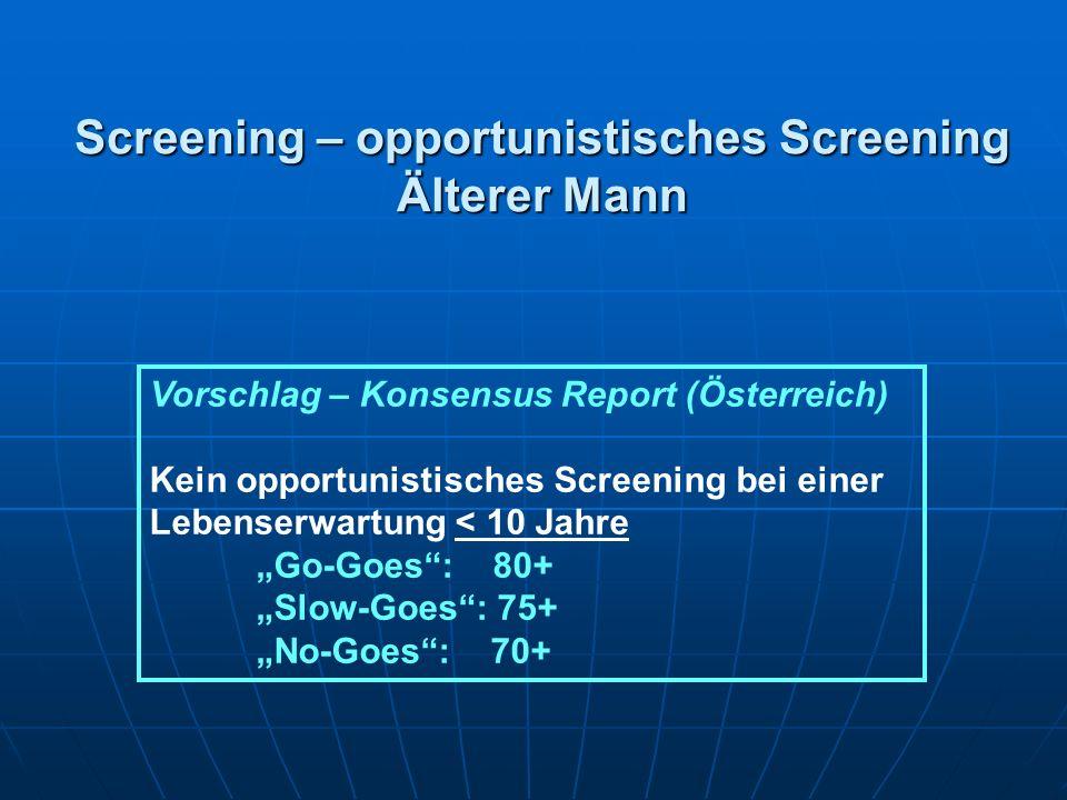 Screening – opportunistisches Screening Älterer Mann