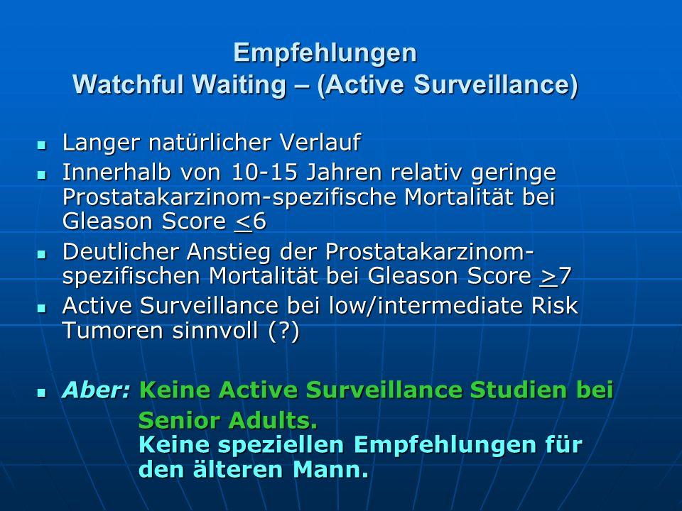 Empfehlungen Watchful Waiting – (Active Surveillance)