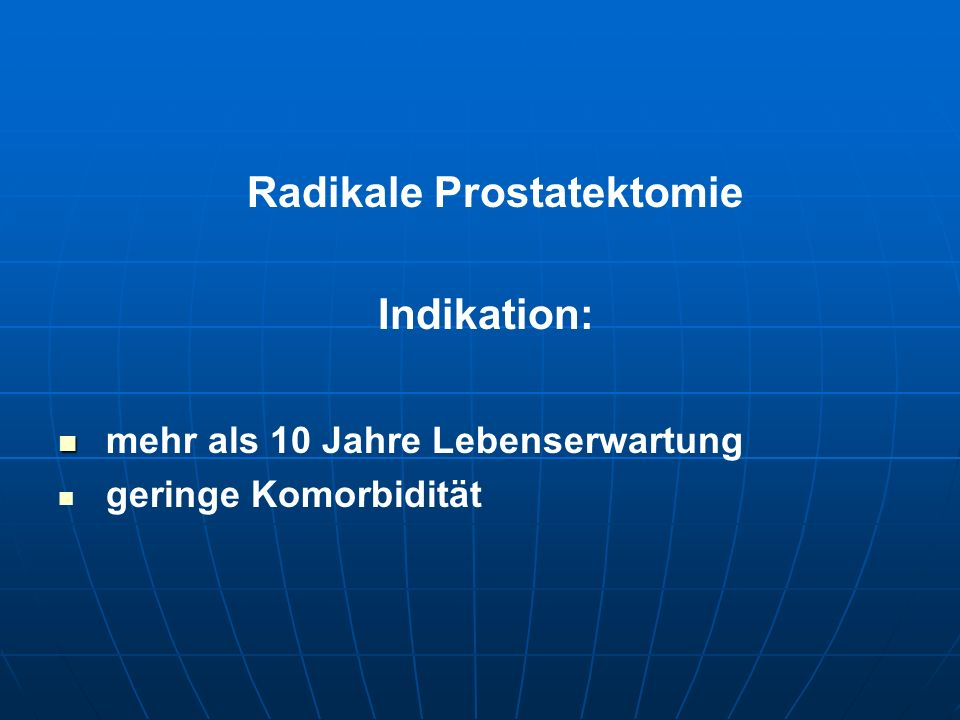 Radikale Prostatektomie