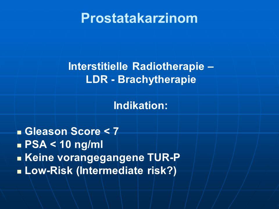Interstitielle Radiotherapie –