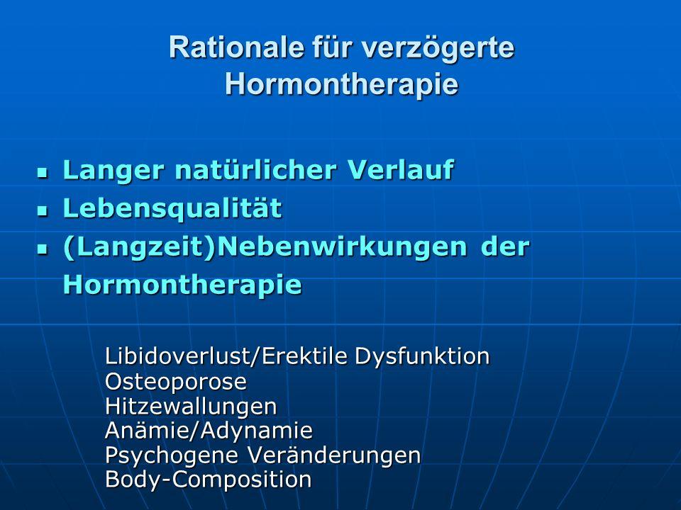 Rationale für verzögerte Hormontherapie