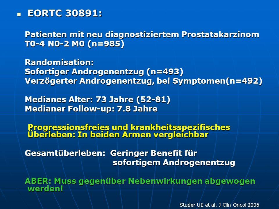 EORTC 30891: Patienten mit neu diagnostiziertem Prostatakarzinom