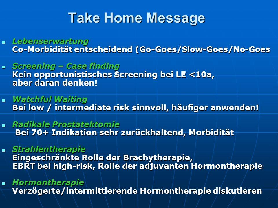 Take Home Message Lebenserwartung