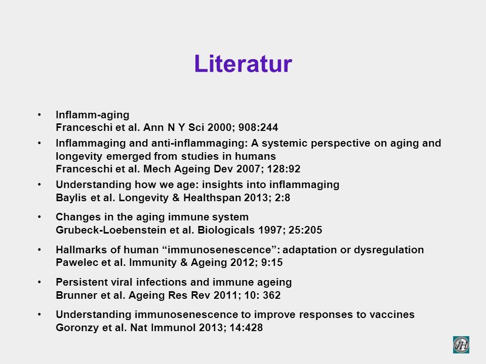 Literatur Inflamm-aging Franceschi et al. Ann N Y Sci 2000; 908:244