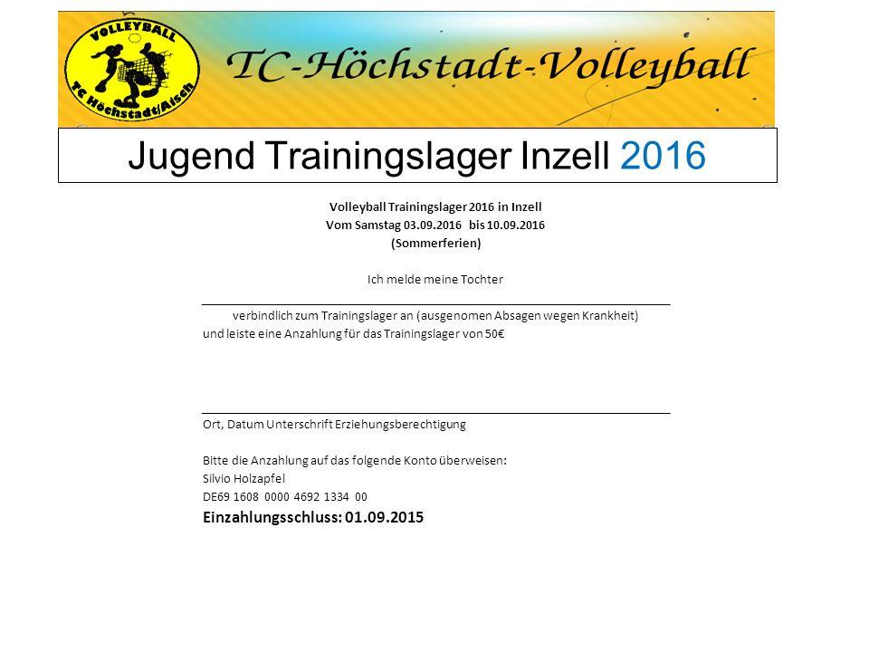 Jugend Trainingslager Inzell 2016