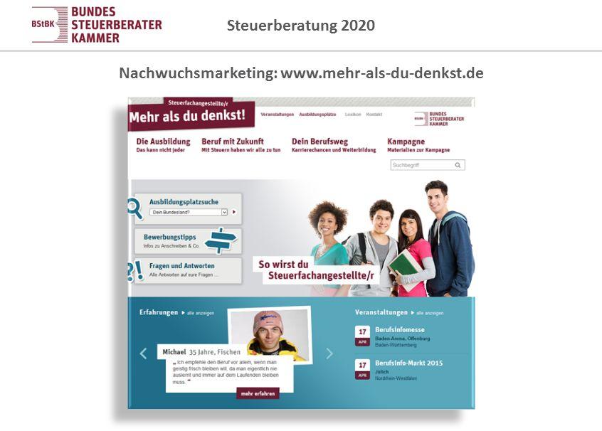 Nachwuchsmarketing: www.mehr-als-du-denkst.de