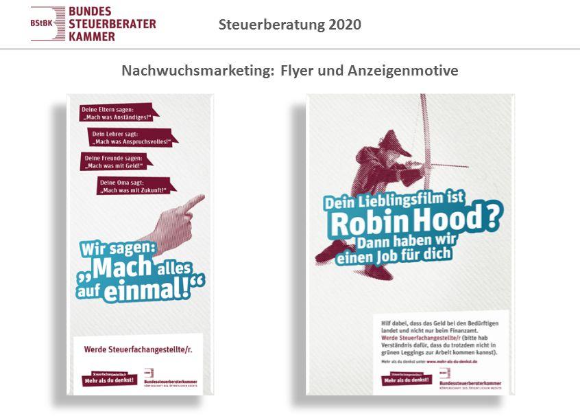 Nachwuchsmarketing: Flyer und Anzeigenmotive