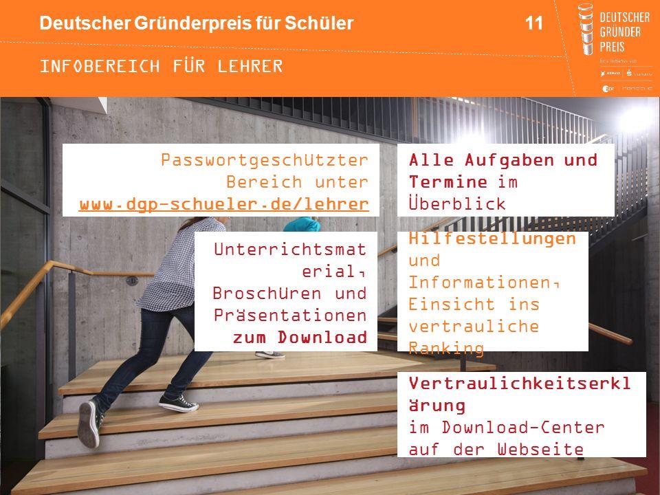 Infobereich für Lehrer