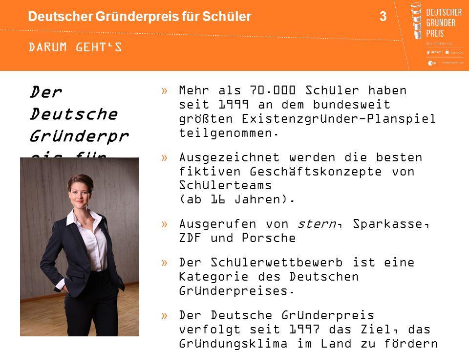 Der Deutsche Gründerpr eis für Schüler