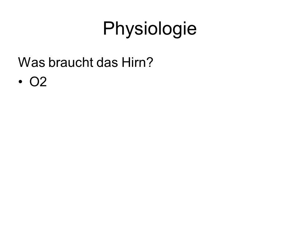 Physiologie Was braucht das Hirn O2