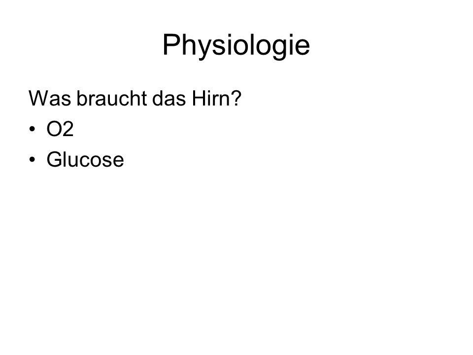 Physiologie Was braucht das Hirn O2 Glucose