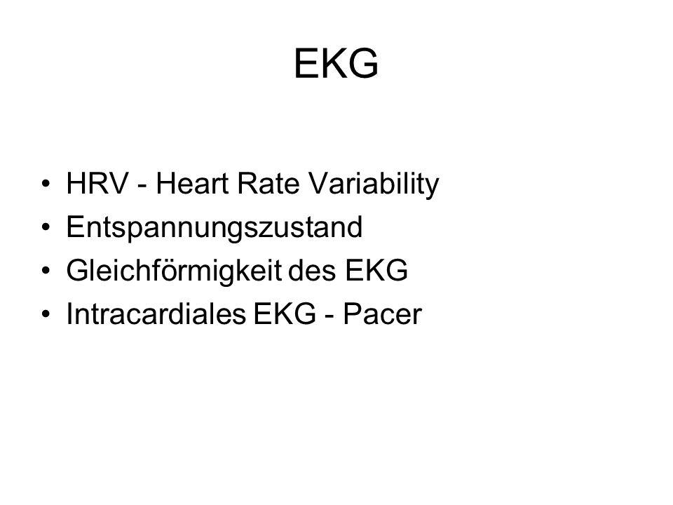 EKG HRV - Heart Rate Variability Entspannungszustand