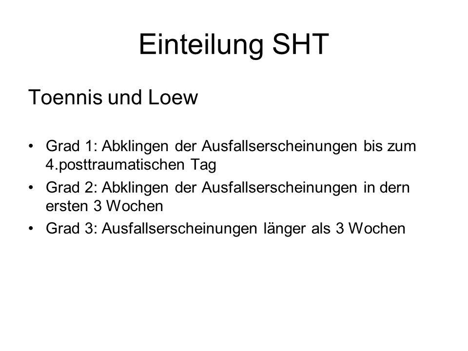 Einteilung SHT Toennis und Loew