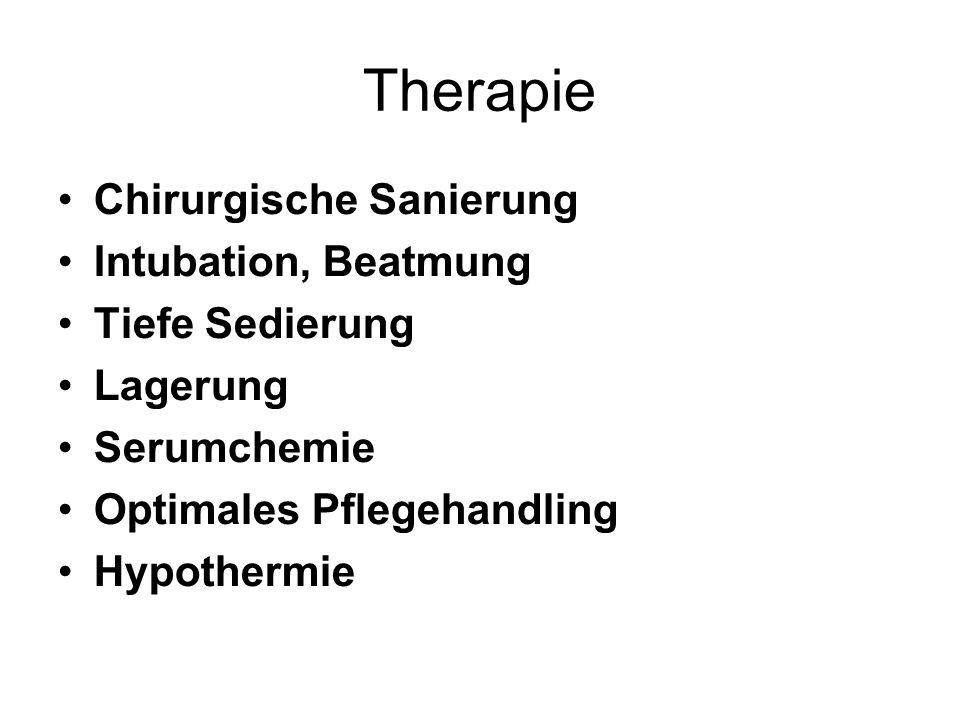Therapie Chirurgische Sanierung Intubation, Beatmung Tiefe Sedierung