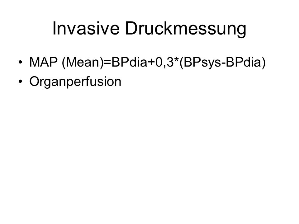 Invasive Druckmessung
