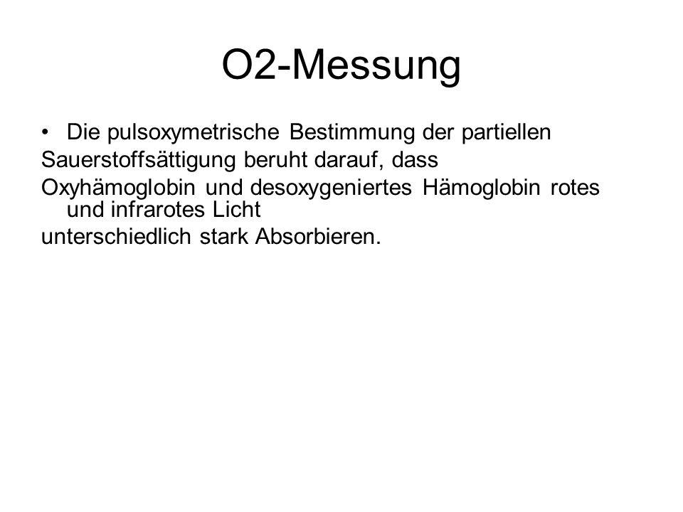 O2-Messung Die pulsoxymetrische Bestimmung der partiellen