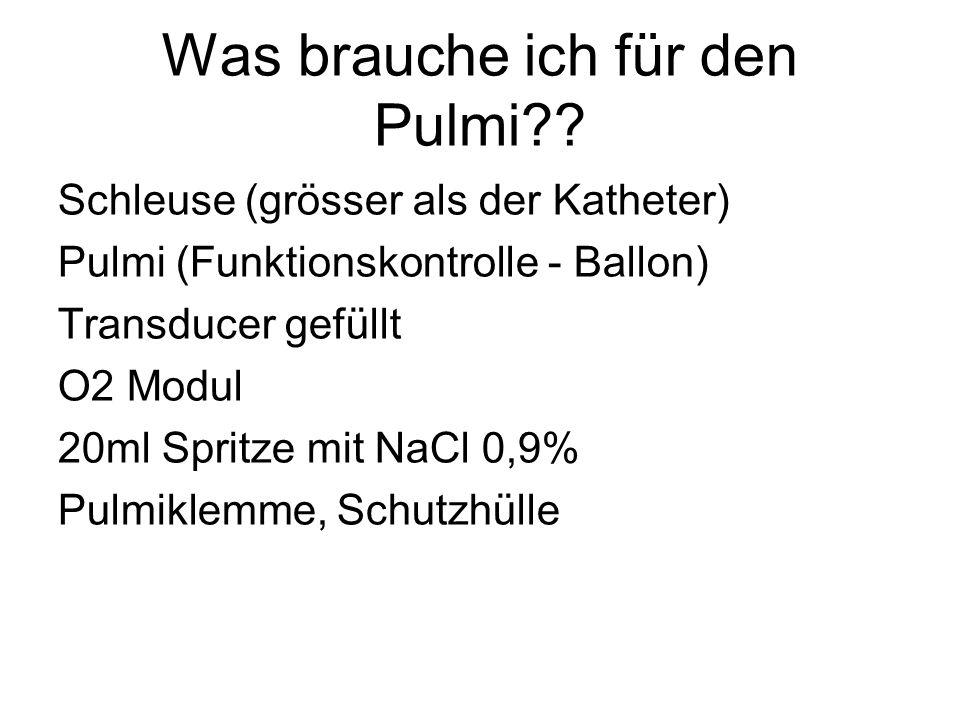 Was brauche ich für den Pulmi