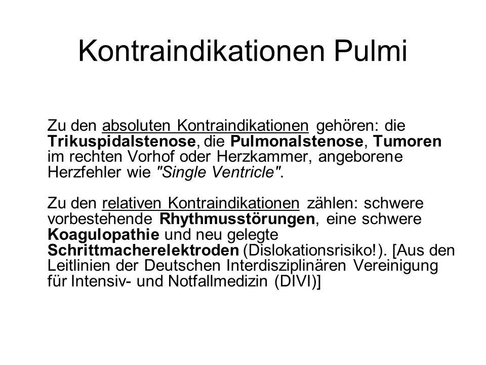 Kontraindikationen Pulmi