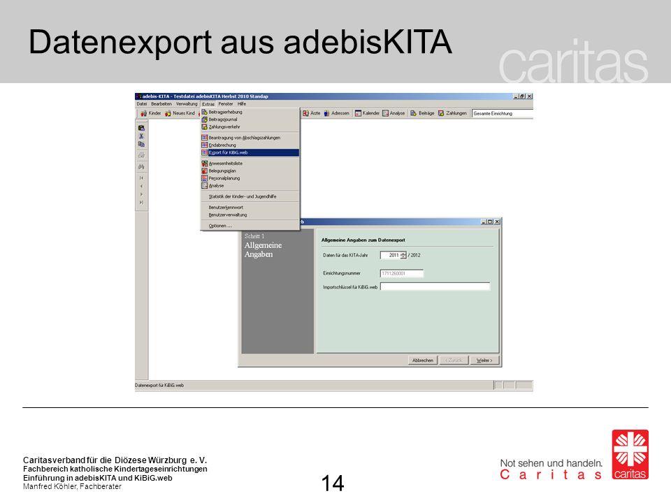 Datenexport aus adebisKITA