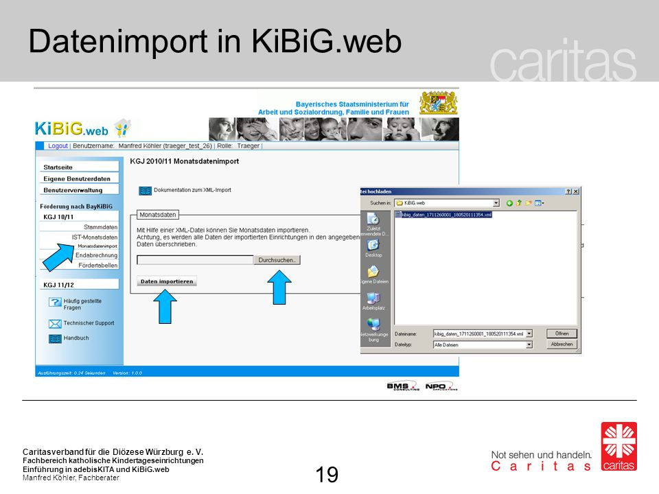 Datenimport in KiBiG.web