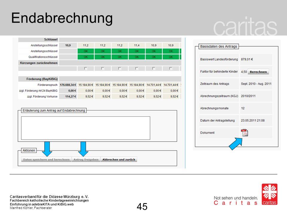 EndabrechnungNach erfolgter Überprüfung und Speicherung der Daten…. … kann der Antrag freigegeben werden …