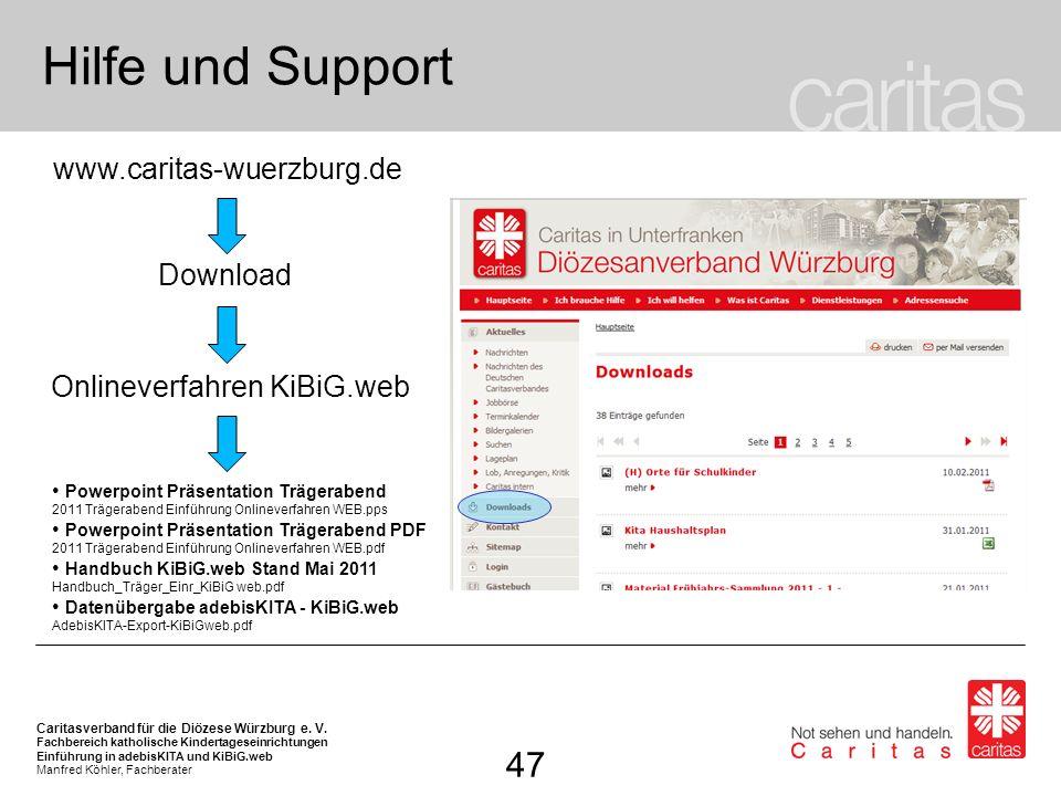 Onlineverfahren KiBiG.web