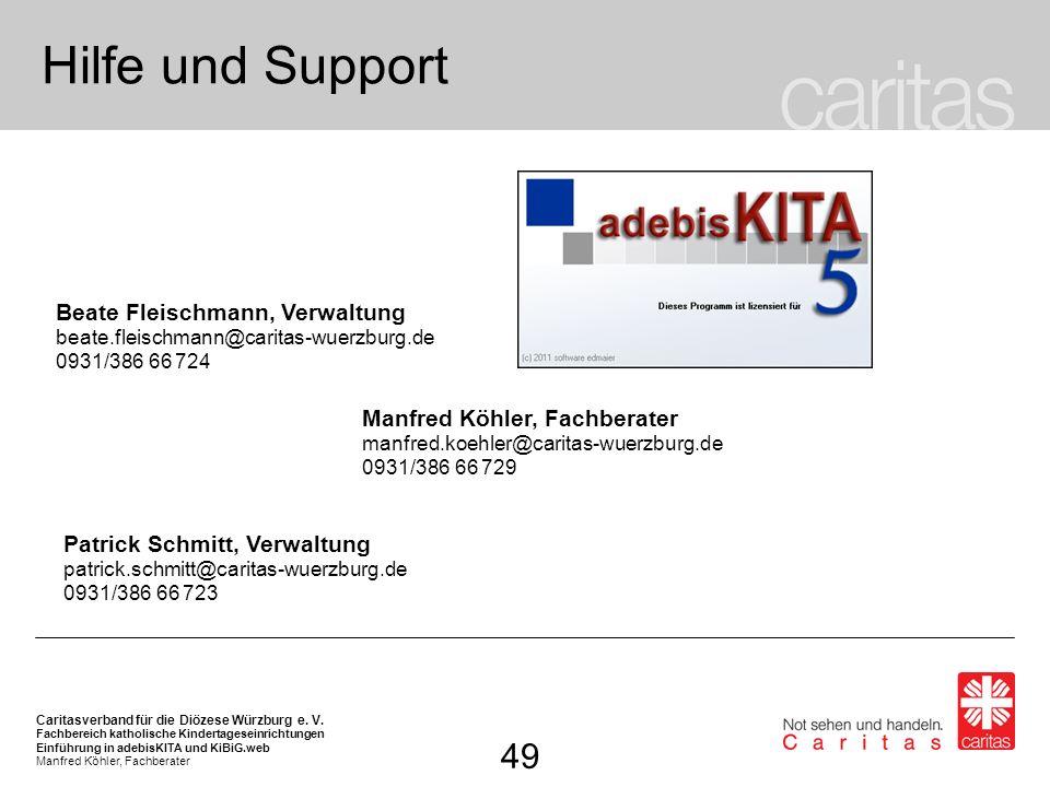 Hilfe und Support 49 Beate Fleischmann, Verwaltung