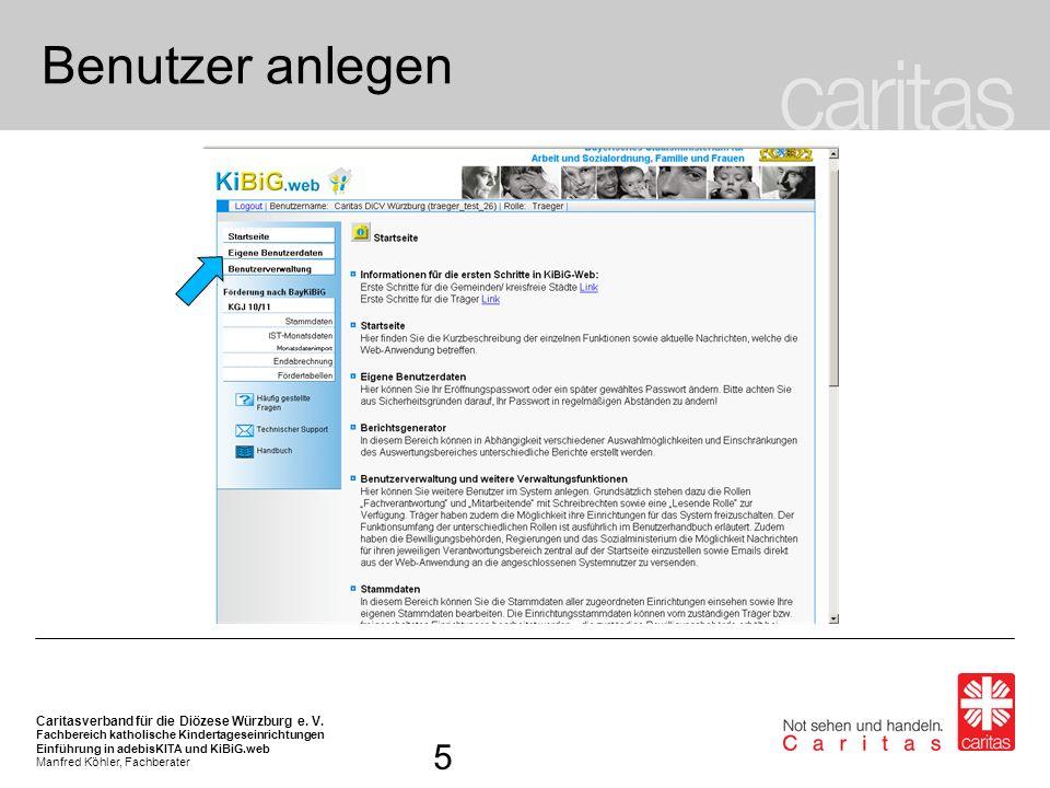 Benutzer anlegen Auf der Startseite können in der Navigationsleiste links die Funktionen des Onlineverfahrens aufgerufen werden.