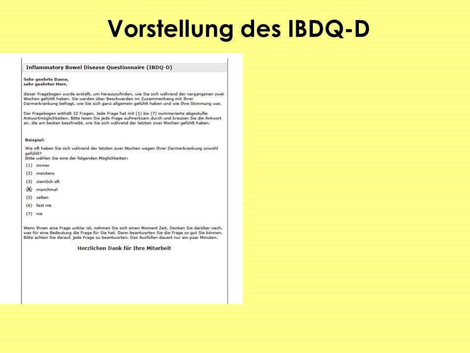 Vorstellung des IBDQ-D
