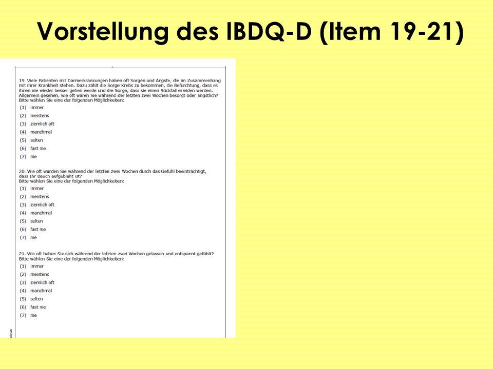 Vorstellung des IBDQ-D (Item 19-21)
