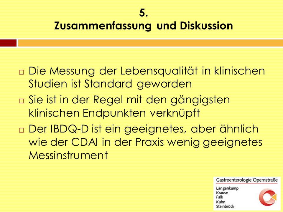 5. Zusammenfassung und Diskussion