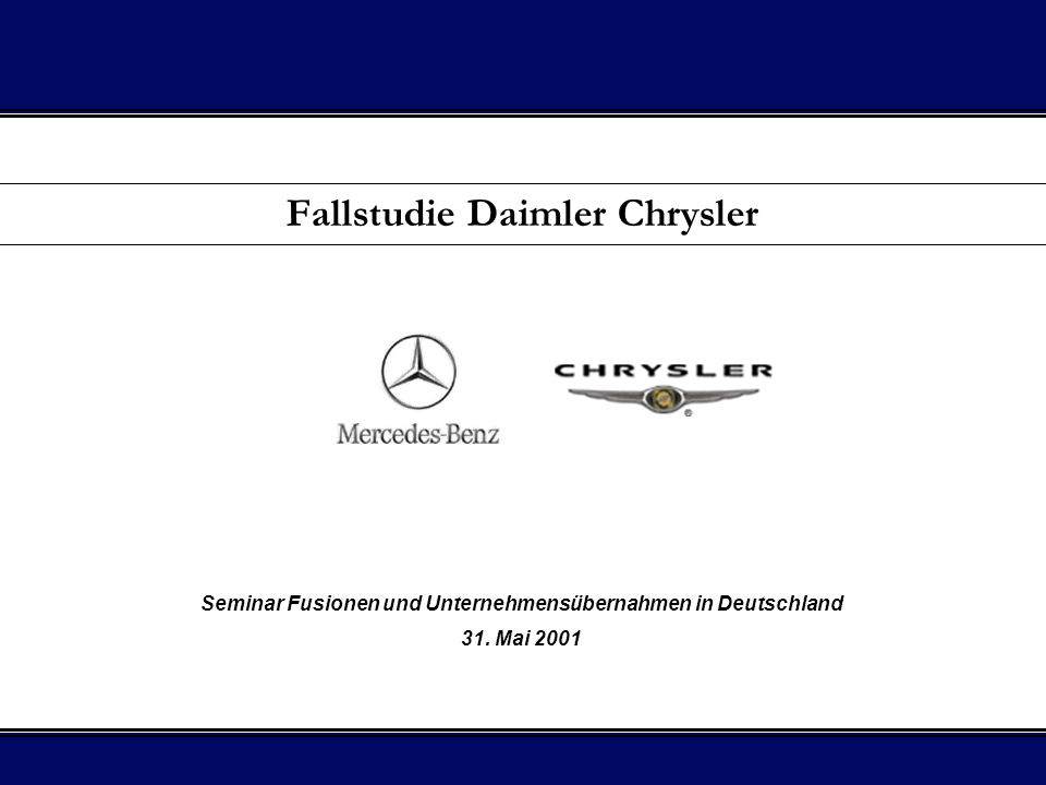 Fallstudie Daimler Chrysler