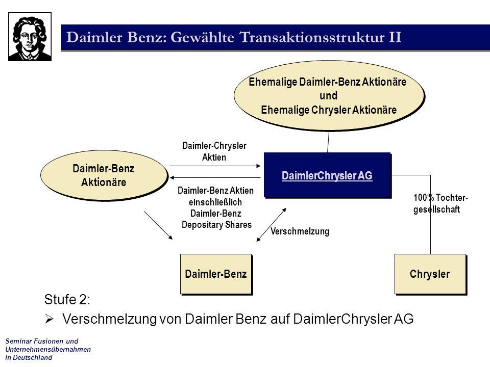 Ehemalige Daimler-Benz Aktionäre Ehemalige Chrysler Aktionäre