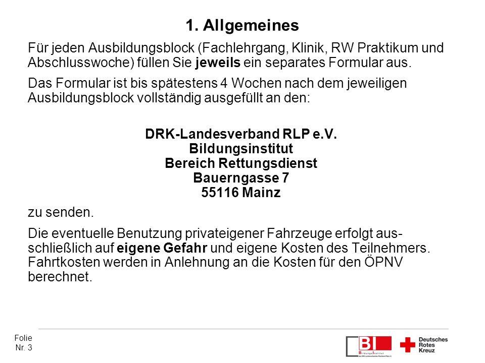 DRK-Landesverband RLP e.V. Bereich Rettungsdienst