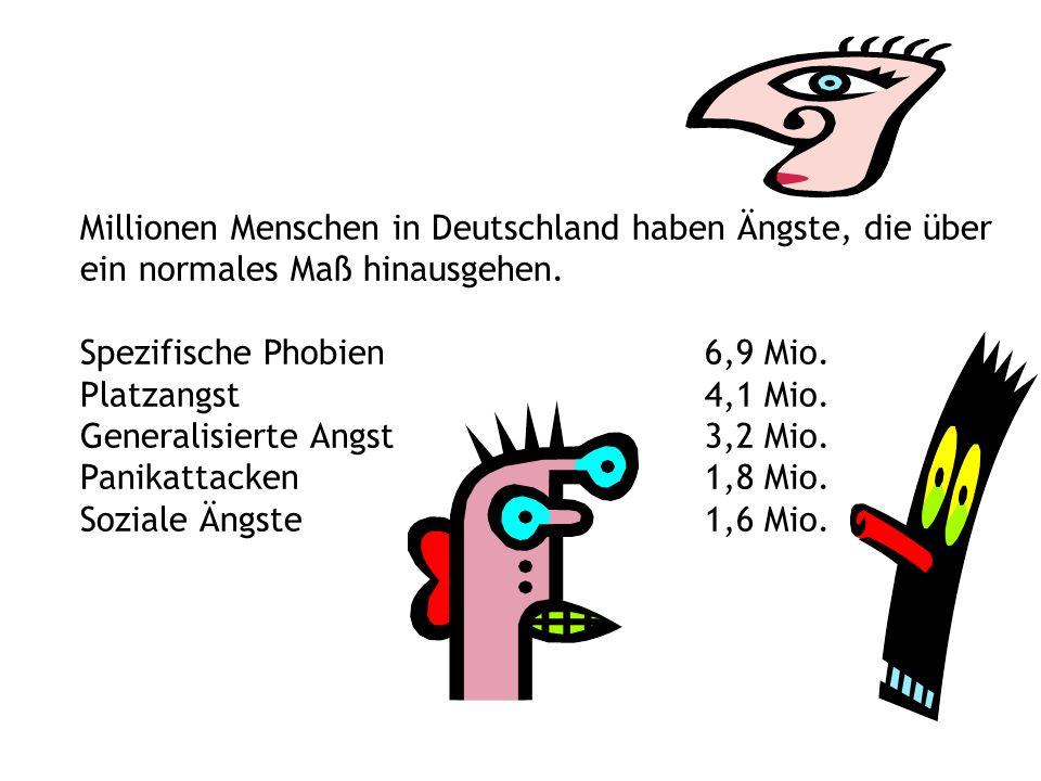 Millionen Menschen in Deutschland haben Ängste, die über