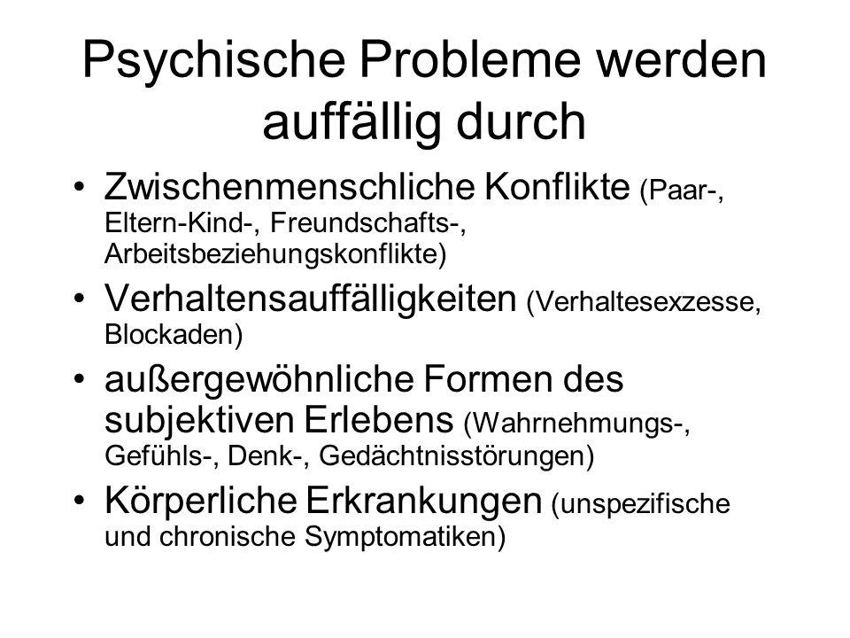 Psychische Probleme werden auffällig durch