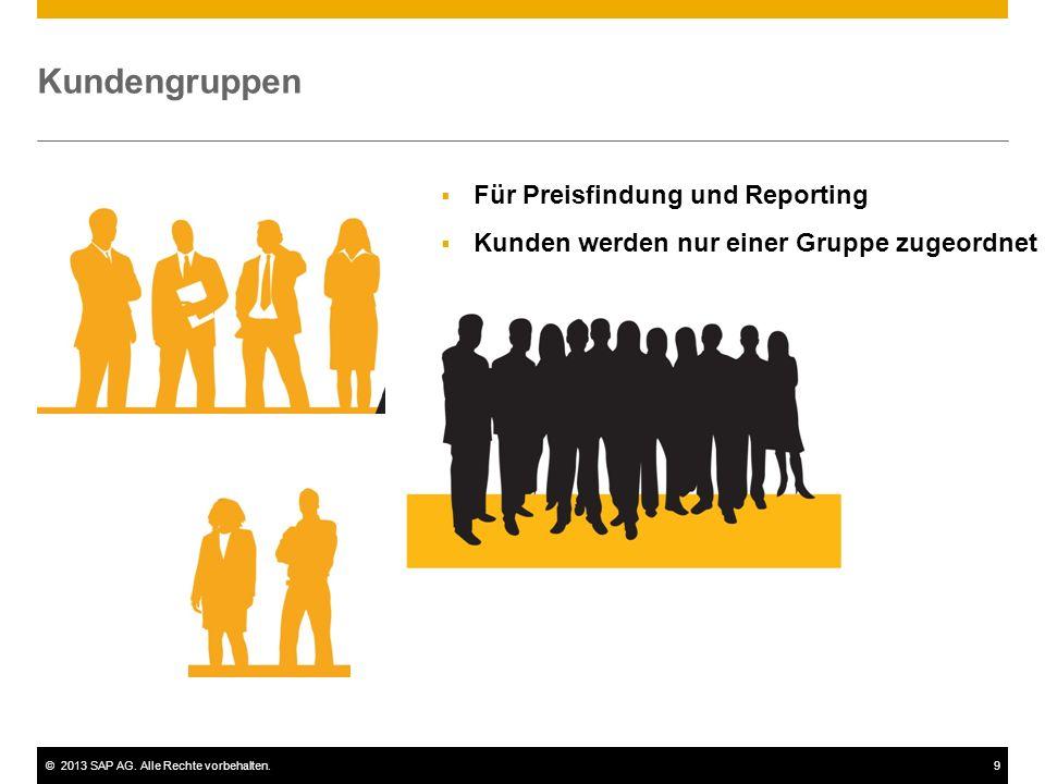 Kundengruppen Für Preisfindung und Reporting