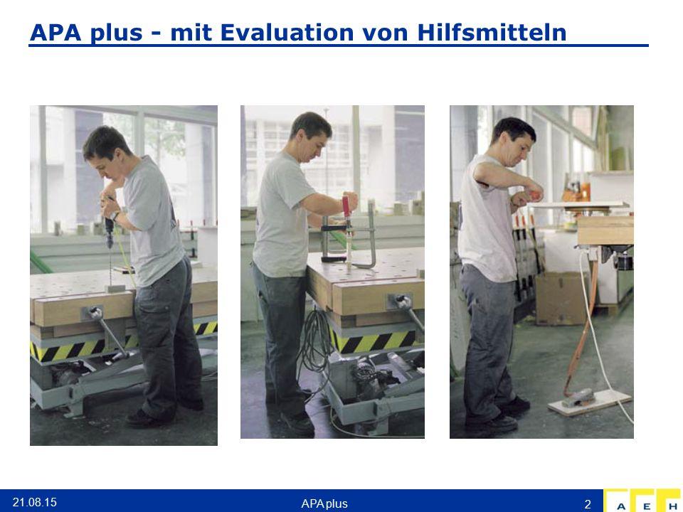 APA plus - mit Evaluation von Hilfsmitteln