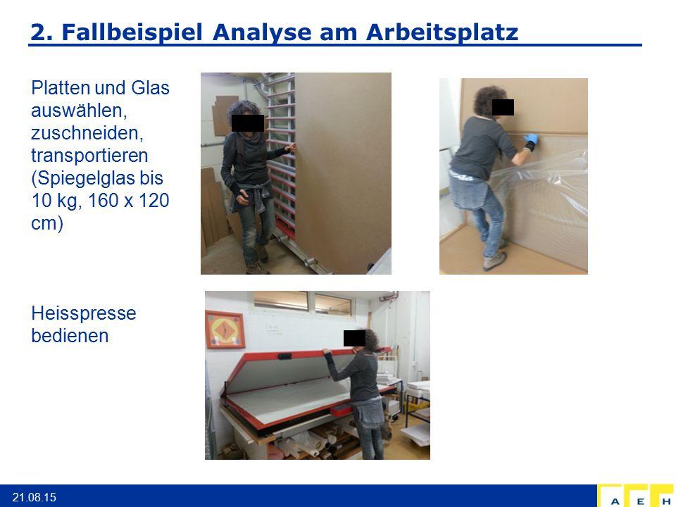 2. Fallbeispiel Analyse am Arbeitsplatz
