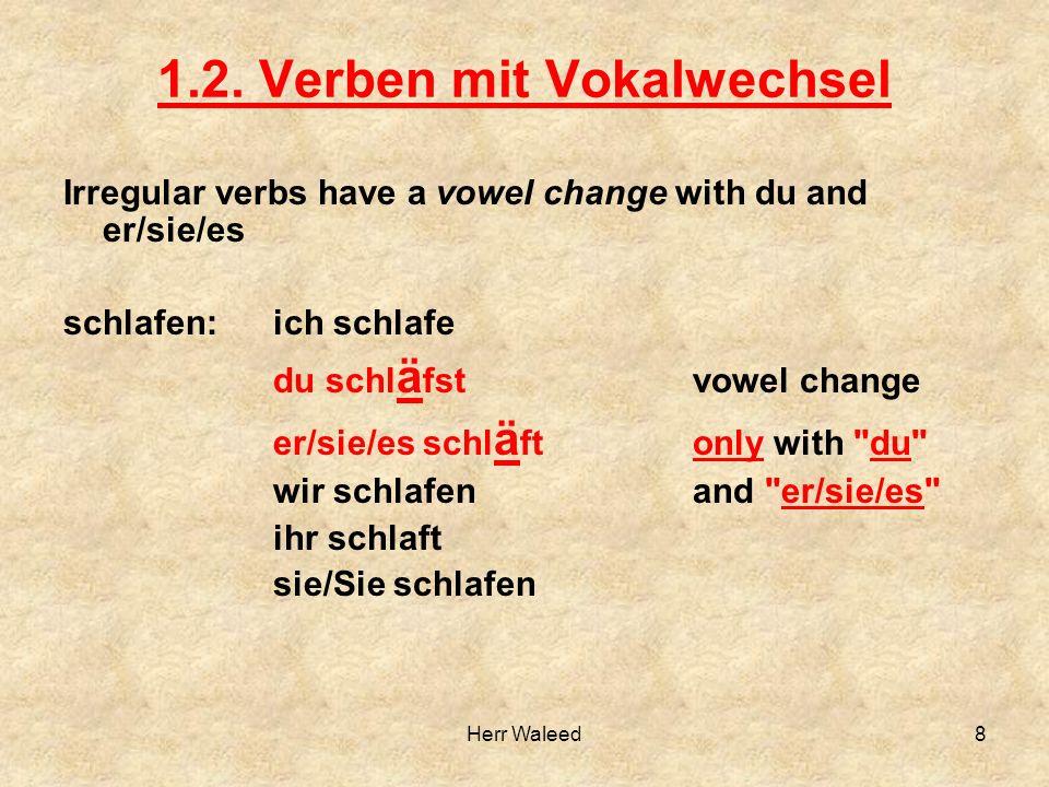 1.2. Verben mit Vokalwechsel