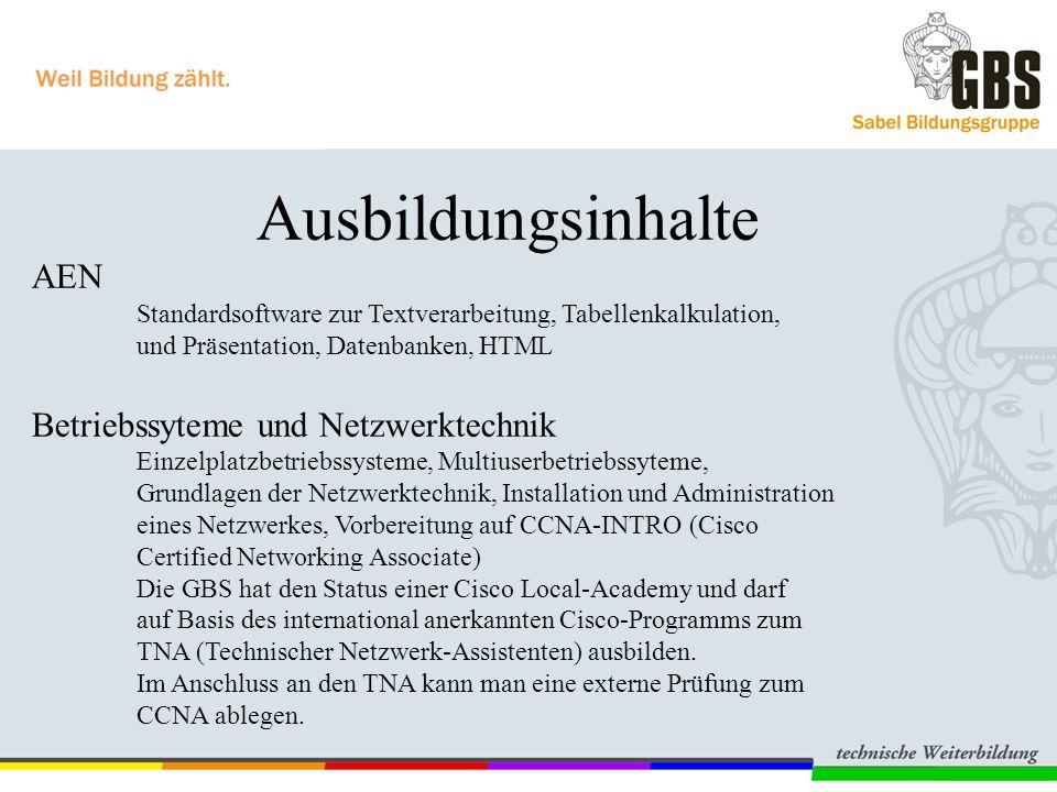 Betriebssyteme und Netzwerktechnik
